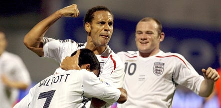 England will face Germany without Rooney and Ferdinand