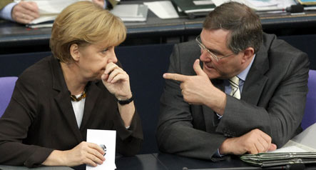 Merkel under fire for economy ahead of CDU congress