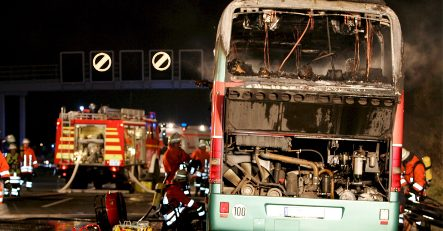 Bus fire likely caused by technical defect