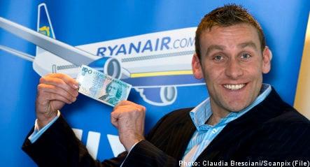 Ryanair mulls flights from Sweden to US