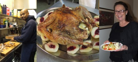 Americans cook Thanksgiving meal for Stockholm's homeless