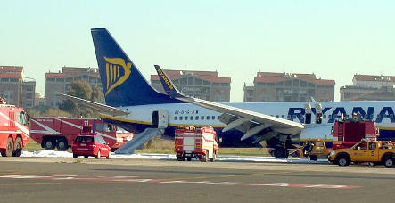 Frankfurt Ryanair flight skids off Rome runway