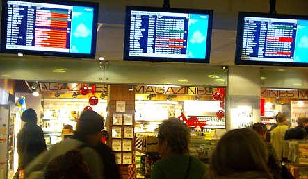 Passengers wait out airport delays