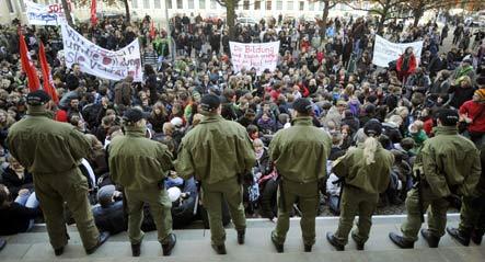 German students ditch school in nationwide strike