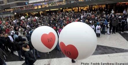 Demonstrators honour Stockholm's 'Romario'