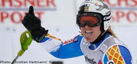 Anja Pärson claims season's first World Cup victory