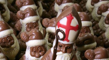 Chocolate-wielding Germans target Santa