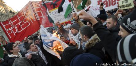 Demo in Stockholm over Gaza bombings