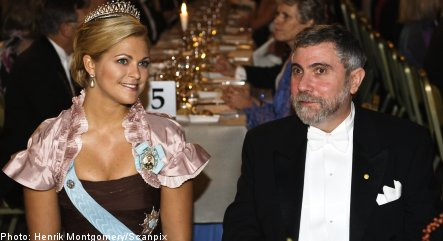 Nobel laureates receive prizes in Stockholm