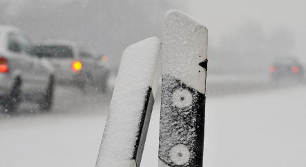 Snow and ice cause traffic mayhem