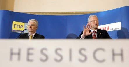 Koch sees Hesse coalition as blueprint for Germany