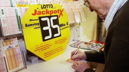 Lottery jackpot climbs to €35 mln