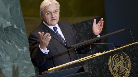 Steinmeier calls for blue helmets in Gaza
