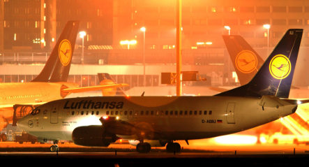 Lufthansa cabin crew strikes in Frankfurt