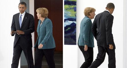 Merkel and Obama discuss goals on phone