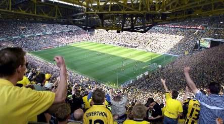 Football fan dies in Dortmund stadium