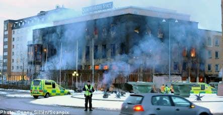 Arson suspected in hotel inferno