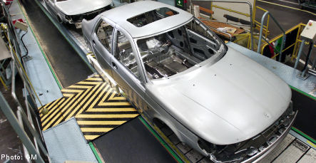 Saab production grinds to a halt