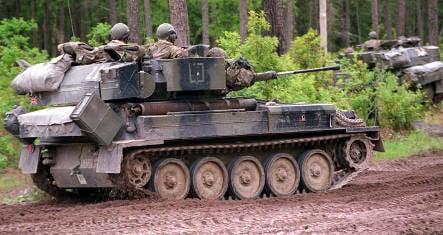 Drunk British soldier takes tank joyride