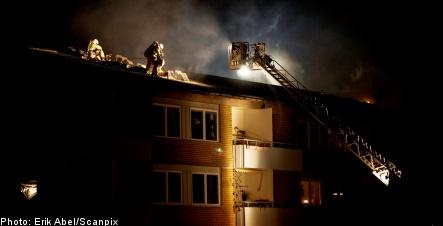 Fire ravages Mölndal apartment building