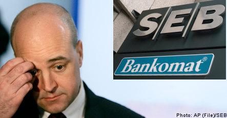 Reinfeldt calls SEB pay raises 'indulgent'