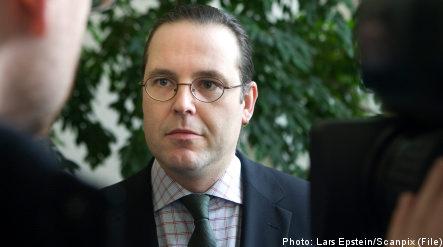 Bullet sent to Sweden's finance minister