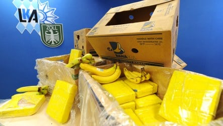 Supermarket worker finds loads of cocaine in banana crates