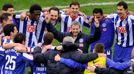 Hertha tops league amid history of bankruptcy, bombs and bribery