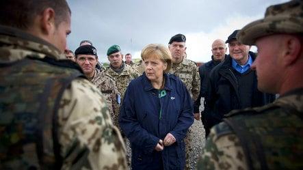 Merkel visits German troops in Afghanistan
