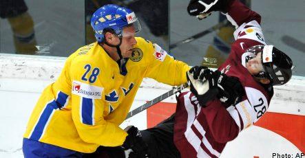 Latvia upsets Sweden at ice hockey world championships
