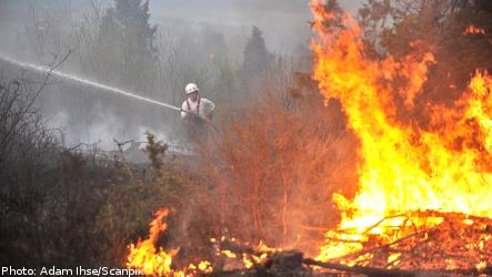 Forest fires 'out of control' in western Sweden