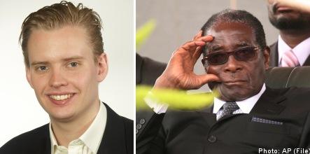 Mugabe guard roughs up Riksdag member