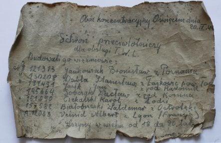 Message in a bottle from Auschwitz prisoner found