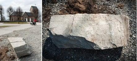 Intact runestone found in church car park