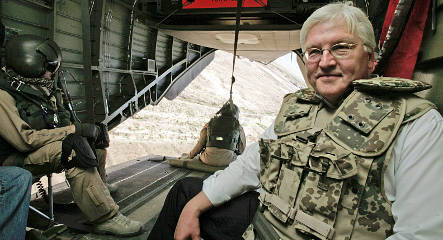 Steinmeier visits wounded soldier after two attacks on troops