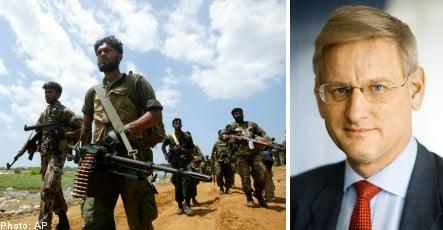 Bildt to Sri Lanka for ceasefire talks