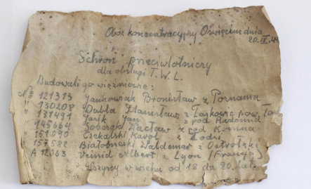 Swede's father 'wrote Auschwitz bottle note'