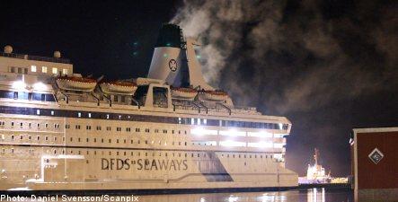 Fire erupts onboard nuke plant boat hotel