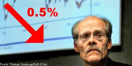Sweden's Riksbank cuts base interest rate