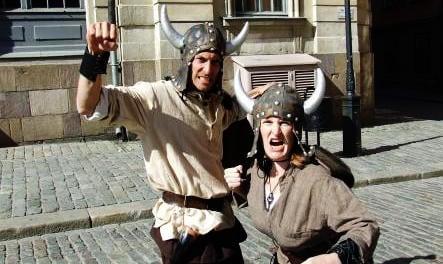 Modern-day Vikings pillage streets of Stockholm