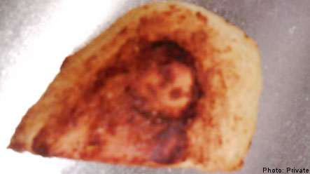 Fried potato with 'face of Jesus Christ' for sale on eBay
