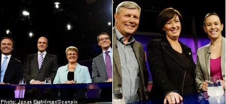 Crisis and EU dominate party leader debate
