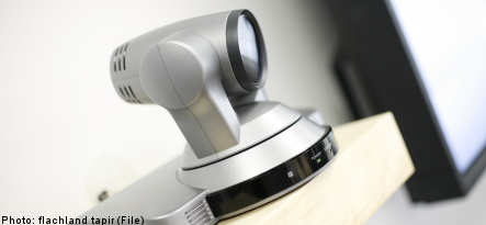 Thief caught red-handed on stolen webcam