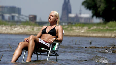 Nuclear power plants warming Rhine river