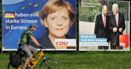 EU poll tests German domestic policy