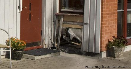 Blast rips into elderly couple's home