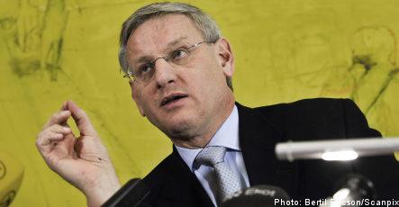 Bildt blasé over German EU delay