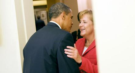 Obama betting on Merkel election win