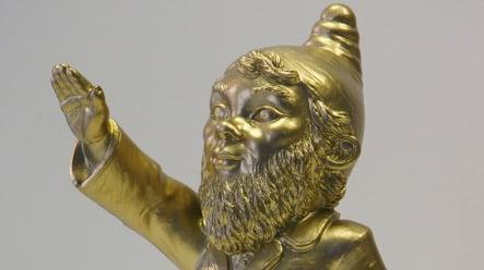 Artist's lawn gnome Hitler salute sparks investigation
