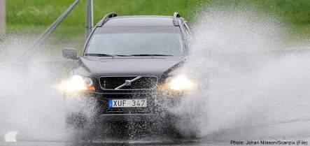 Western Sweden caught in downpour